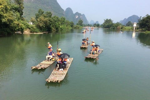 Travelbay Customer Reviews - Ray & Rose Schmidt in China - rafts in Guilin