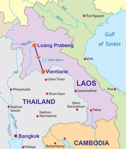 Travelbay Laos Tours 6D Laos Map
