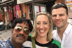 Travelbay Tailor Made Tours Reviews - Sarah and Julian with guide Raj in Jaipur, India