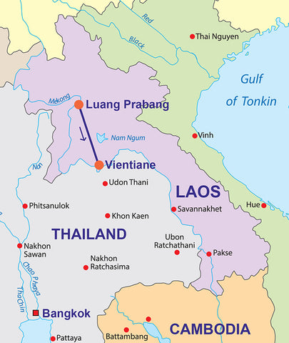 Travelbay Tours - Laos - map