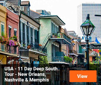 Travelbay USA Tours - 11 Day Deep South Tour