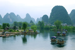 Travelbay China Tours - 10 Day Classic, not to be missed Private Tour - China Private Tours - Boats on River, Guilin