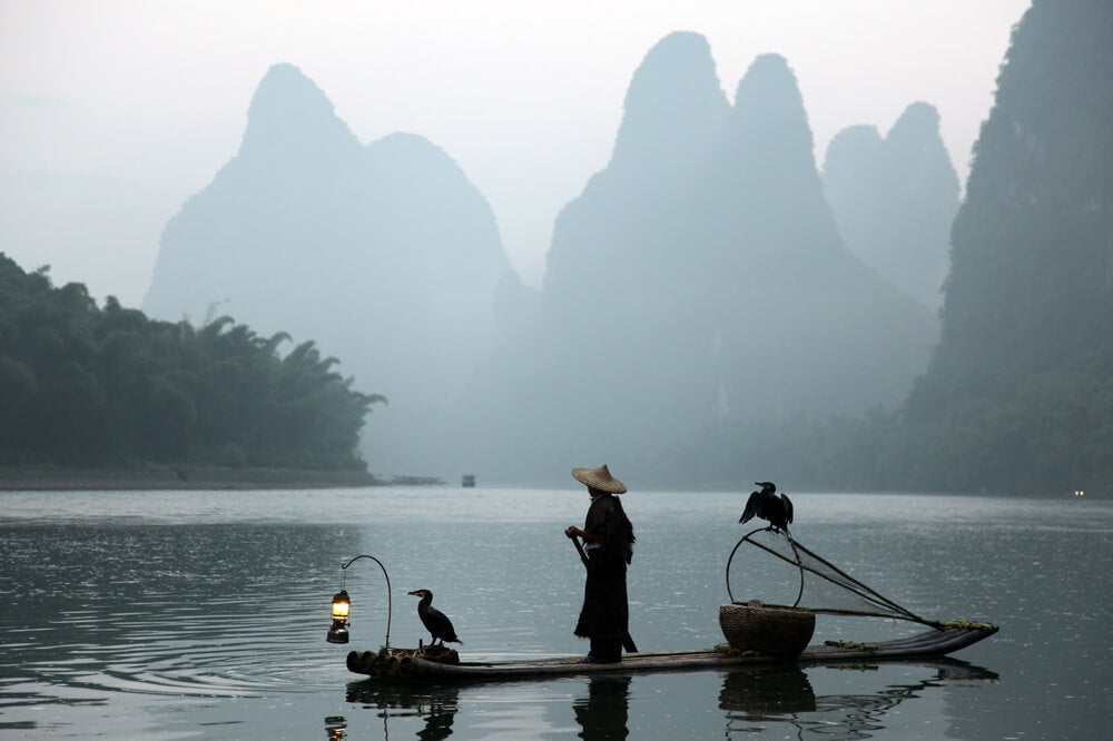 Travelbay China Tours - 10 Day Classic, not to be missed Private Tour - China Private Tours - Fisherman on River, Guilin