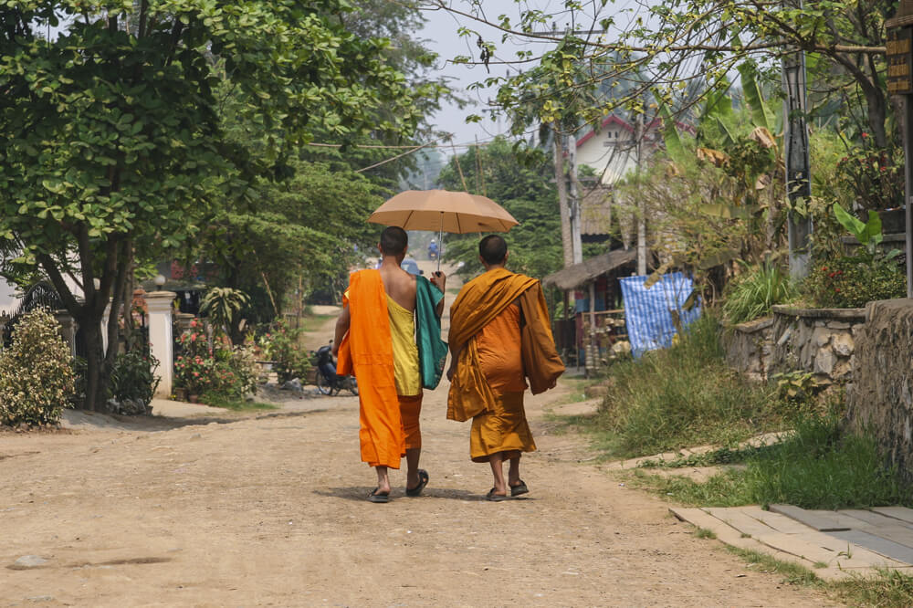 Travelbay Laos Tours - Experience the Magic of Laos in 6 Days - Laos Private Tours - Monks in Luang Prabang, Laos