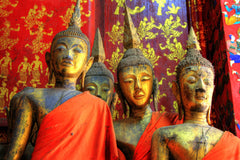 Travelbay Laos & Cambodia Tours - 12 Days of Marvels, Magnificence and More - Laos & Cambodia Private Tours - Statues of Monks, Laos