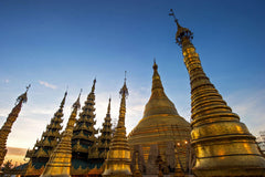 Travelbay Myanmar Tours - 10 Day Magical Myanmar Tour including 4 Night Cruise - Myanmar Private Tours - Shwedagon Pagoda, Yangon