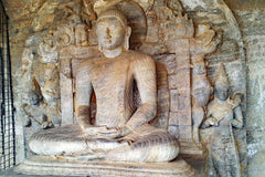 Travelbay Sri Lanka Tours - The Wonders if Sri Lanka in 14 Days - Sri Lanka Private Tours - Buddha statue, Polonnaruwa
