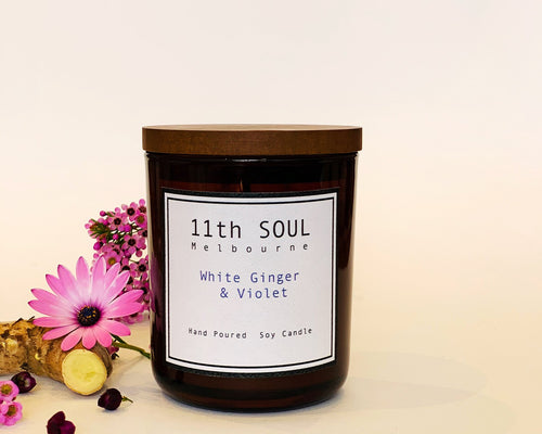 11TH SOUL CANDLE WHITE GINGER & VIOLET