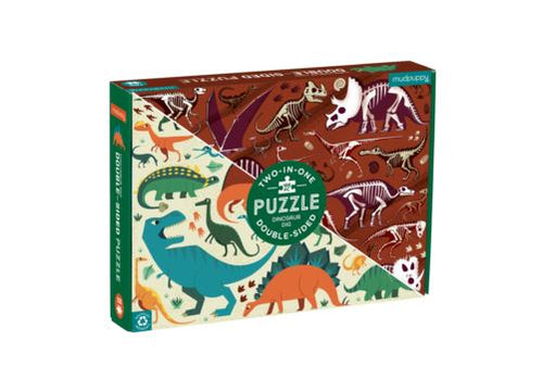 DOUBLE SIDED 100PC PUZZLE DINOSAUR DIG