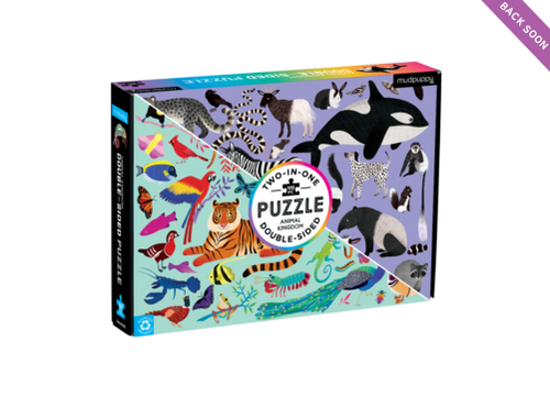 DOUBLE SIDED 100PC PUZZLE ANIMAL KINGDOM