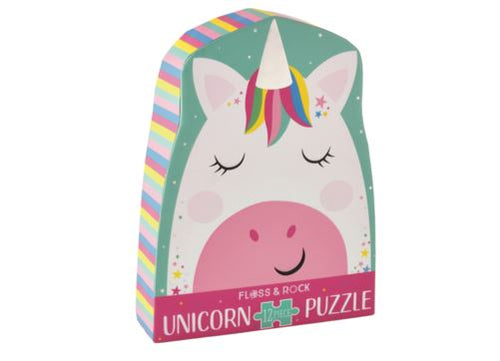 12 PC PUZZLE RAINBOW UNICORN