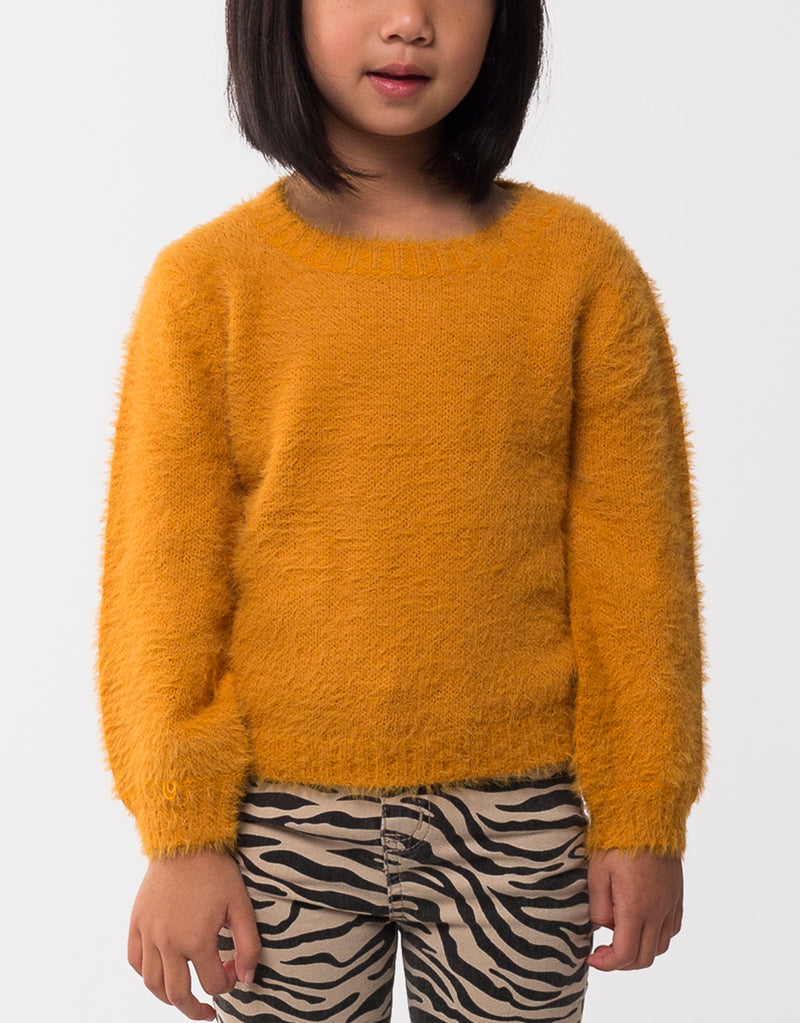 EVE'S SISTER HOLLY FLUFFY KNIT YELLOW