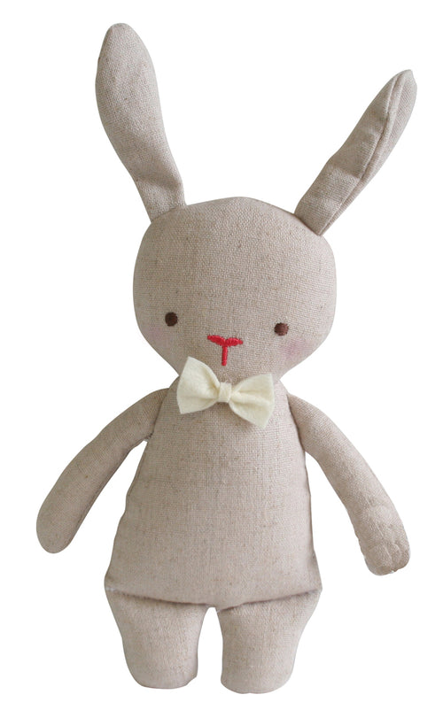 LINEN MINI RATTLE BUNNY