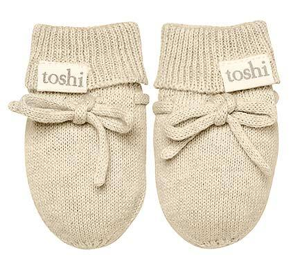 TOSHI ORGANIC MITTENS MARLEY OATMEAL