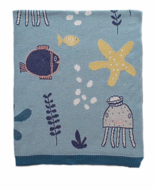 INDUS DESIGN UNDER THE SEA BOY BLANKET