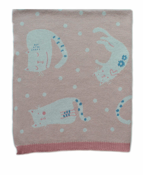 INDUS DESIGN CATS AT PLAY BLANKET