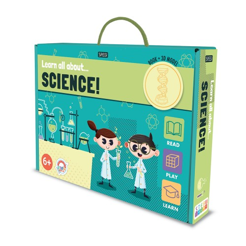 BOOK AND MODEL SET - LEARN ALL ABOUT SCIENCE