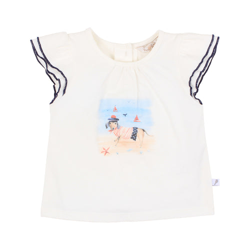 FOX AND FINCH SKIPPER SAILOR DOG TEE