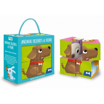 CUBE PUZZLE AND BOOK - MY ANIMAL FRIENDS AT HOME