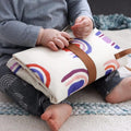 LIVVY AND HARRY TRAVEL BABY CHANGE MAT PASTEL RAINBOWS