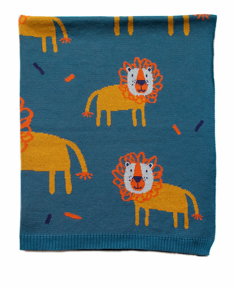 INDUS DESIGN LEROY LION BLANKET