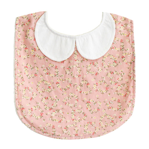 ALIMROSE PETER PAN COLLAR BIB POSY HEART