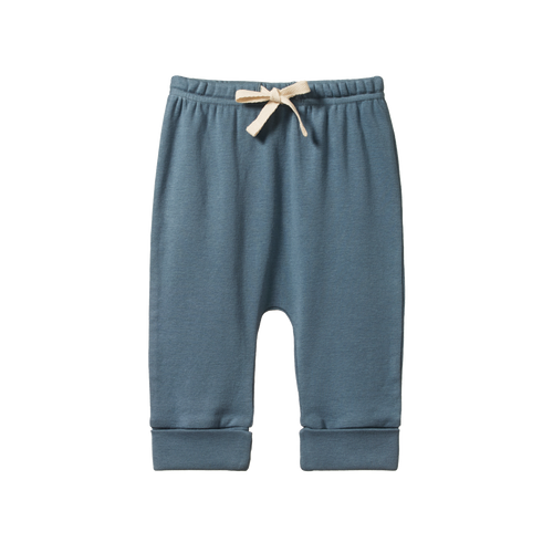 NATURE BABY DRAWSTRING PANTS DEEP BLUE