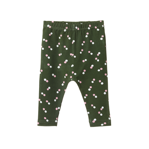 NATURE BABY SNOW DROP PRINT LEGGINGS