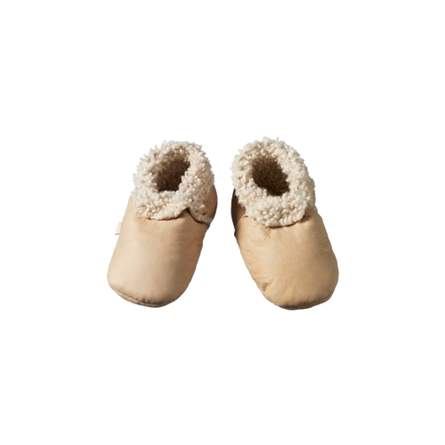 NATURE BABY LAMBSKIN BOOTIES CREAM