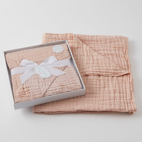 PEACH WHIP DOUBLE MUSLIN COTTON BLANKET