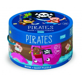 30 PIECE GIANT PUZZLE AND BOOK - PIRATES