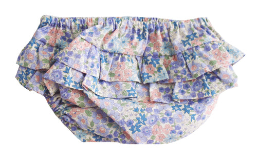 ALIMROSE RUFFLE NAPPY COVER LIBERTY BLUE