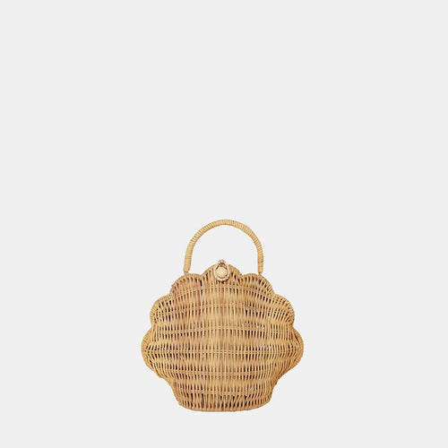 OLLI ELLA STRAW SHELL BAG STRAW