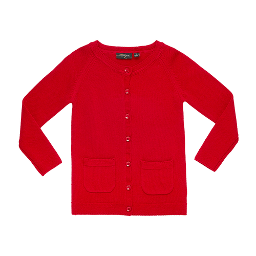 ROCK YOUR KID KNIT CARDIGAN RED