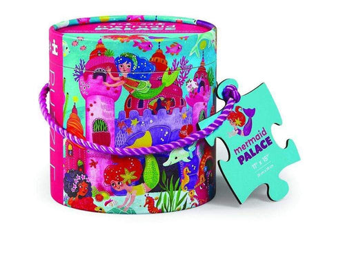 24 PIECE PUZZLE MINI CANISTER MERMAID PALACE