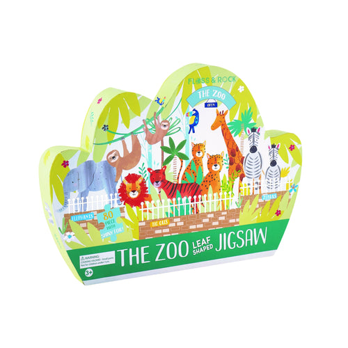 80 PC SHAPED JIGSAW ZOO