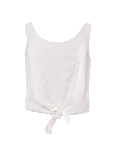 EVE GIRL LOUISE TANK WHITE
