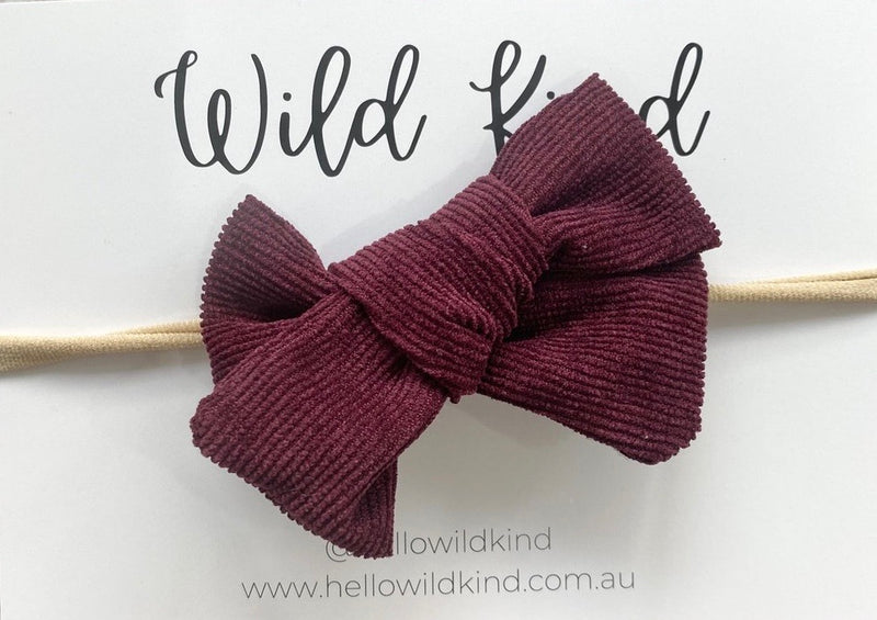 FLORENCE CORD BOW BURGUNDY