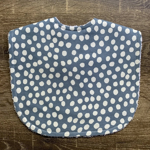TILDA AND MOO DOT DUCK EGG CLASSIC BIB