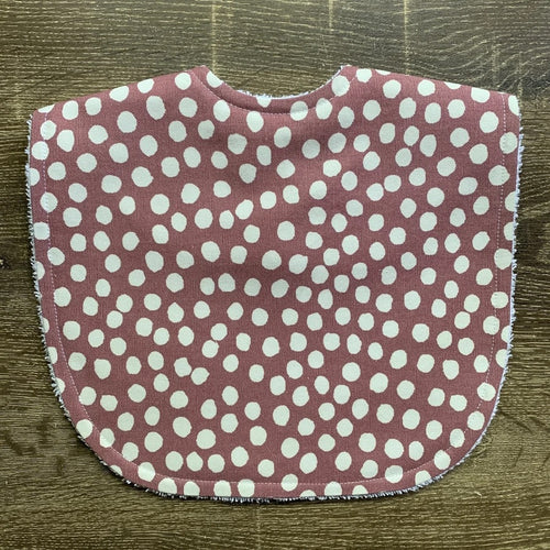 TILDA AND MOO DOT DARK ROSE CLASSIC BIB