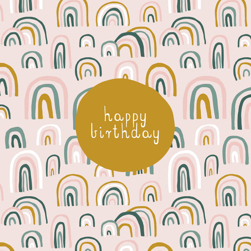 CARD BIRTHDAY - RAINBOWS