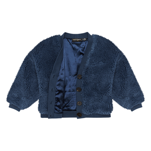 ROCK YOUR BABY BLUE SHERPA CARDIGAN