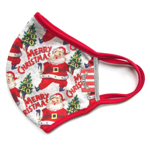 PAPER WINGS DOUBLE LAYER JERSEY FACE MASK - MERRY CHRISTMAS 2020