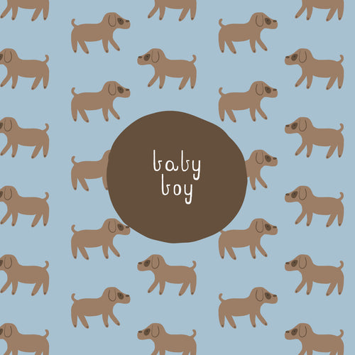 CARD BABY BOY - PUPPY DOGS