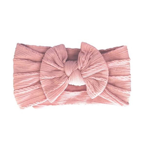 ARCH N OLLIE CABLE KNOT HEADBAND ROSE PINK