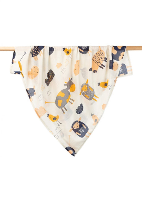 INDUS COTTON BABY SWADDLE FARMYARD