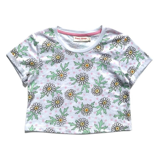 PAPER WINGS CROPPED T-SHIRT - DAISIES