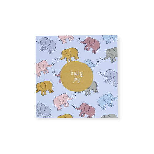 CARD BABY NEUTRAL  - ELEPHANTS