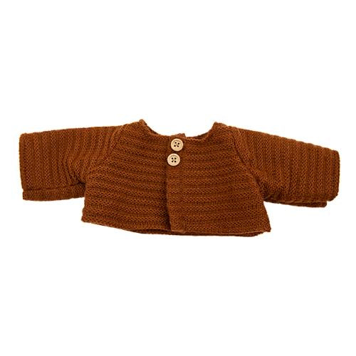 DINKUM DOLL SINGLE CARDIGAN CHESTNUT
