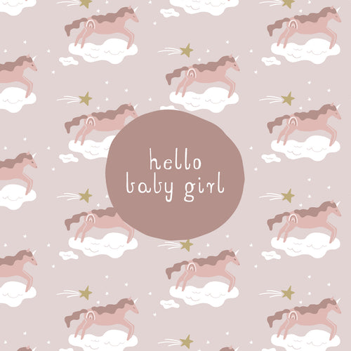 CARD BABY GIRL - UNICORN DREAMS